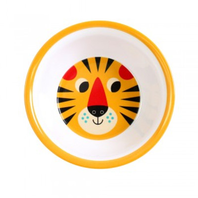 Omm Design - Yellow Tiger Face Bowl