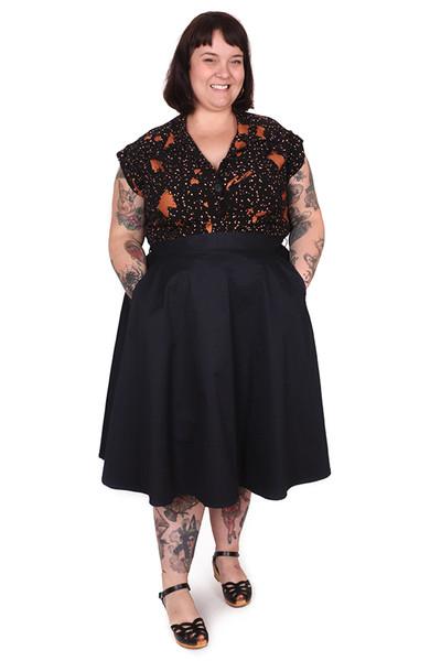 Every Body Valentina Skirt Midi Navy