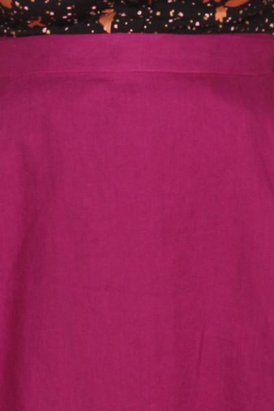 Every Body Valentina Skirt Midi Magenta Linen