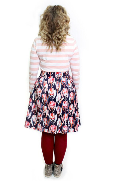 Rizzo Top Winter Blush Stripe