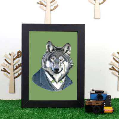 Ryan Berkley Wolf Framed Print