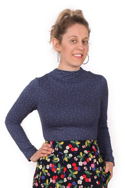 Scarlet Skivvy Pin Spot Blue - LUCKY LAST ONE LEFT - XL