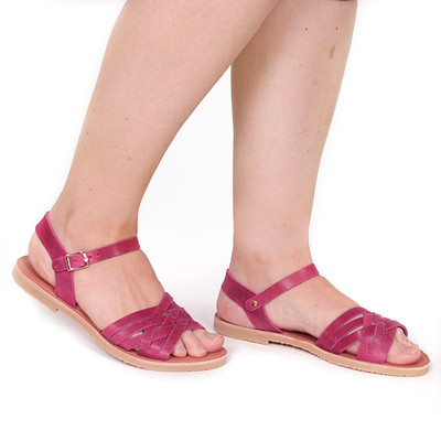 Sandal Braid Raspberry