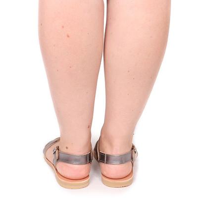 Sandal Braid metallic Nickel