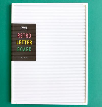 White Retro Letter Board