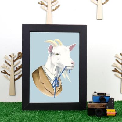 Ryan Berkley Billy Goat Framed Print