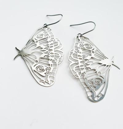 Silver Moth dangles