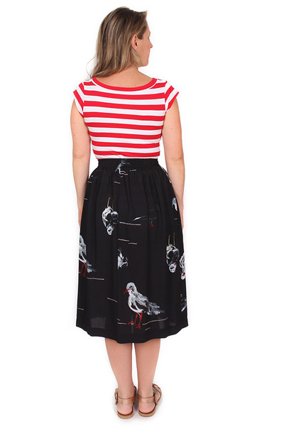 Every Body Ella Elastic Skirt Seagulls