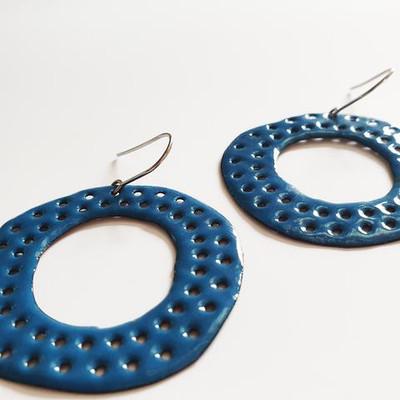 classic blue holey hoops