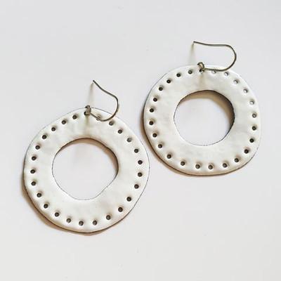 white holey hoops
