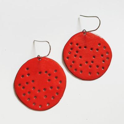 red holey discs