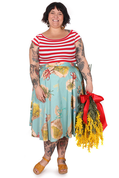 EB Valentina Skirt Borrowed Wattle Midi