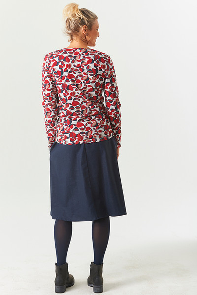 LS Top Winter Flwrs Red