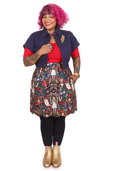EB Sunset Skirt Wonderland Navy