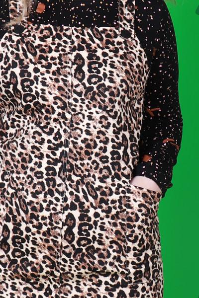 Petra Pinafore Leopard