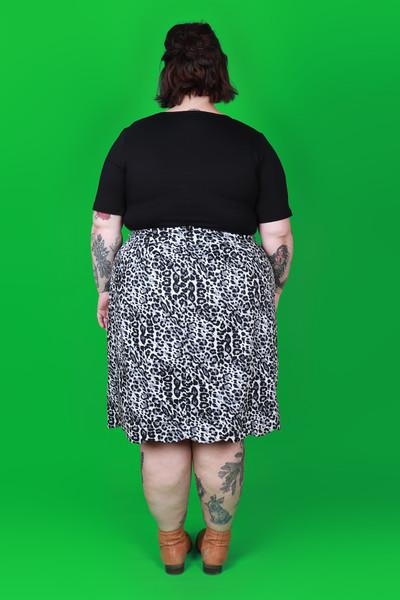 Sunset Skirt Snow Leopard