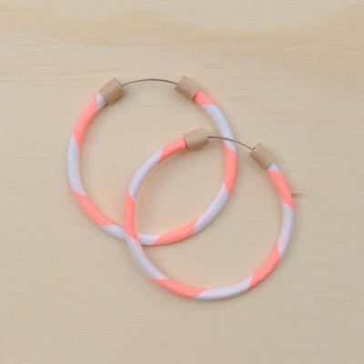 Hoop Earring Neon Salmon