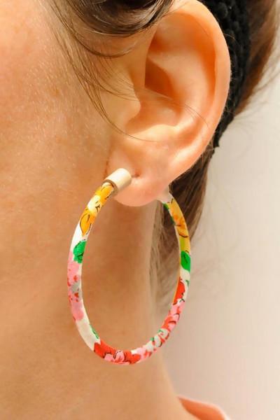 Hoop Earring Floral