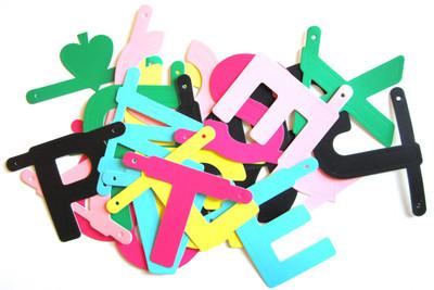 OMM Design Multi-coloured Word Banner