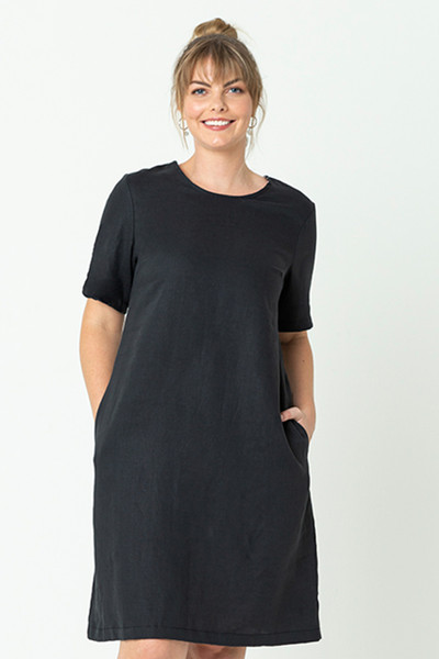 Grace Dress Smokey Blk