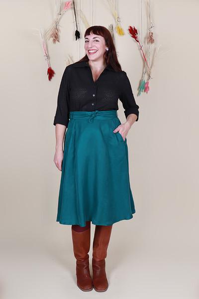 Betty Shirt Broidery Black