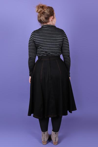 Scarlet Skivvy Road Side Stripe Wool