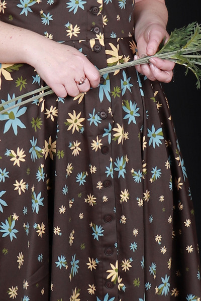 Saski Dress Flannel Flowers