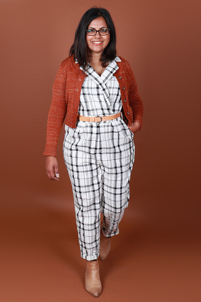 Maisie MADEsuit Wintertide Plaid
