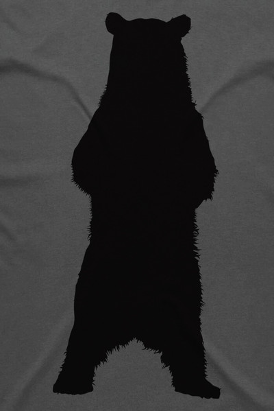 Grizzly Bear Charcoal Mens T