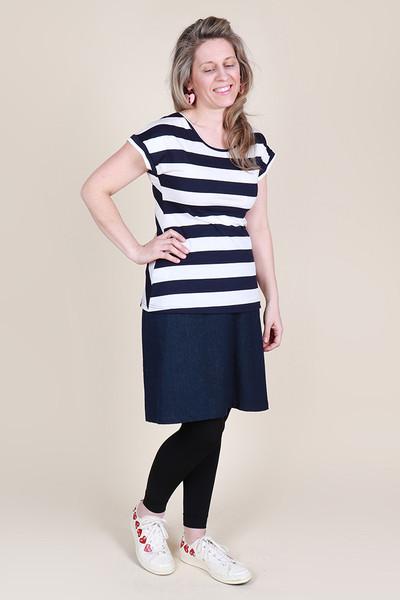 Ripley Reversible Top Sailor Stripe Navy
