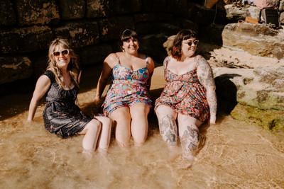 Sandy Swim Skirt Beach Babes