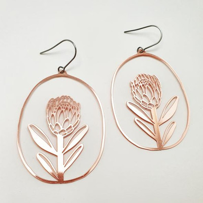 Proteas Dangles in Rose Gold