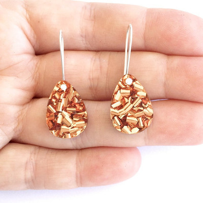 Baby Drop Earrings Rose Gold