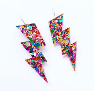 Bolt Drop Earrings Fiesta
