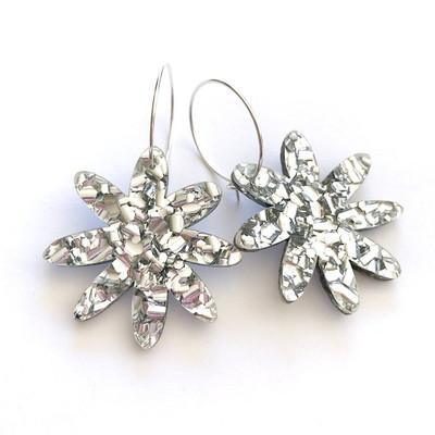 Flora Hoop Glitter Silver