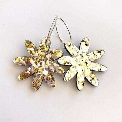 Flora Hoop Glitter Gold