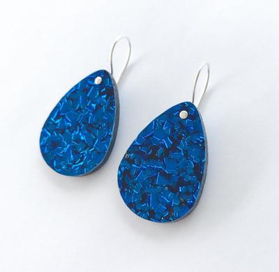 Classic Glitter Drops Electric Blue