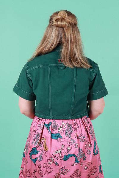 Suk X Made590 Cropped Jacket Emerald