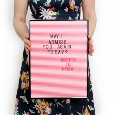 OMM Design - Pink & Black Letter Board