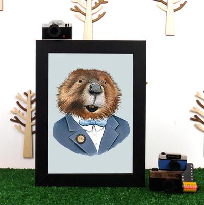 Ryan Berkley Beaver Framed Print