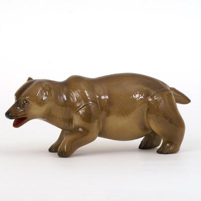 Plastic Bear Pen Brown