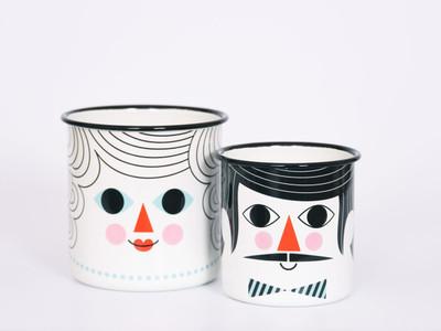 Flower Pot Couple set of 2.