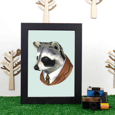 Ryan Berkley Racoon Framed Print