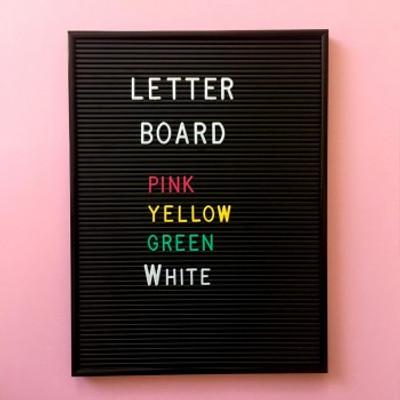 Omm Design - Medium Black Letter Board Letters