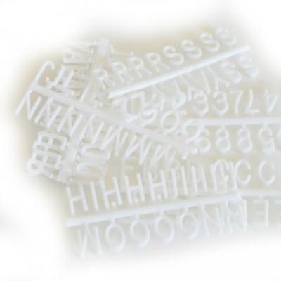 Omm Design - XSmall White Letter Board Letters