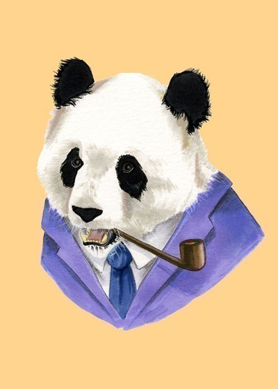 Ryan Berkley Panda Framed Print