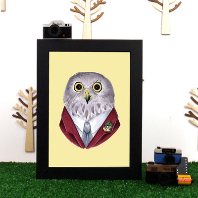 Ryan Berkley Powerful Owl Framed Print
