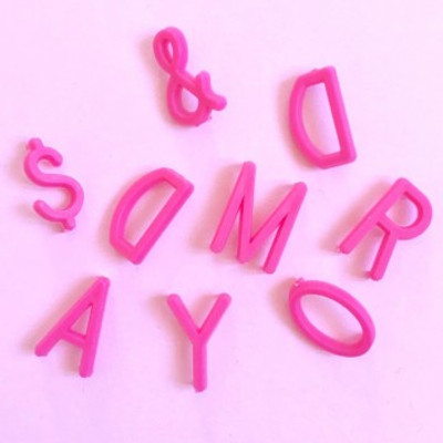 Omm Design - Medium Pink Letter Board Letters