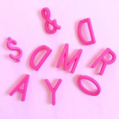 Omm Design - Medium Pink Letter Board Letters.
