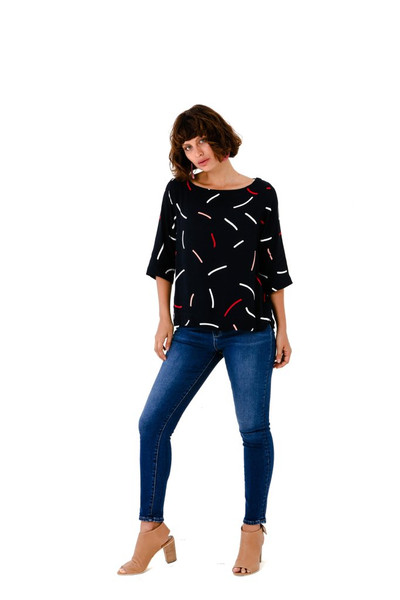 Squiggle Spring Top - LUCKY LAST ONE LEFT - XS